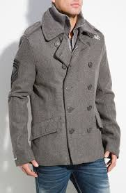 breathable superdry classic pea coat navy women famous brand