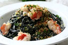 Squid Ink Pasta with Buttery Lobster ...