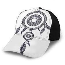 Native American Design Hats Baseball Caps Hats Dream Catcher Feathers Tattoo Boho Native