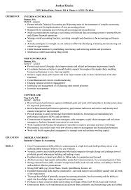 Sample Controller Resume Controller Resume Samples Velvet Jobs 4