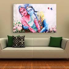 canvas painting beautiful radha krishna art wall painting for living room bedroom