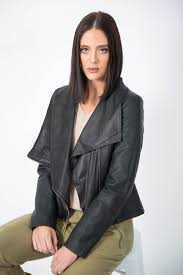 style and comfort come together in the soft faux leather jacket from ice express with a gentle biker vibe and in black colour it goes with everything from