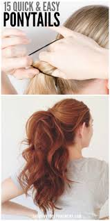 Quick Ponytail Hairstyles 15 Cute And Quick Ponytail Ideas To Spruce Up Mom Hair
