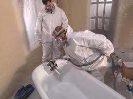 pour finish coat mixture into spray reservoir