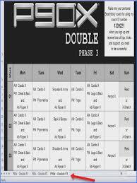 p90x worksheets p90x workout calendar double