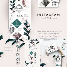 Instagram Puzzle Template Free Download