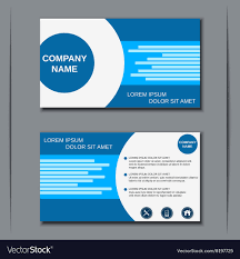 Corporate Visiting Card Design Vector Free Download Modern Business Visiting Card Design