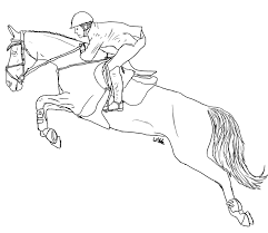Small Picture Horse And Rider Jumping Coloring Pages Coloring Pages