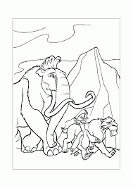 Ice Age Manny Coloring Home