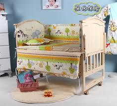 5pcs baby crib bedding set 100x58cm newborn baby bed set crib per forest