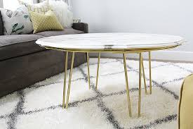 diy marble top coffee table stagg design