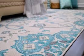 aqua grey cream area rug