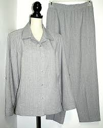 Womens Light Gray Pant Suit Allison Daley Womens 10 Petite Light Gray Pant Suit Jacket W
