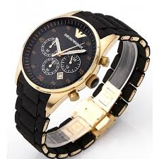 armani wrist black men s ar8023 silicone watch emporio armani black silicon wrapped gold ion plated ar8023 mens watch