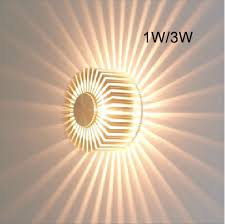 Small Picture 3W Contemporary Led Wall Light with Scattering Light Design UFO