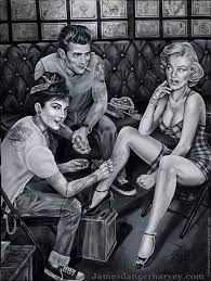 Pin by Stacy Boo on Dont ask me why i <3 them.... #RANDOM | Marilyn monroe  and audrey hepburn, Marilyn monroe tattoo, Marilyn monroe artwork