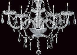 imperia chrome 5 light glass chandelier with crystal drops