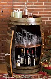 Make a wine/liquor cabinet out of an old barrel