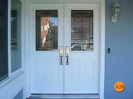 fiberglass double entry doors huntgton exterior without glass door with two sidelights front