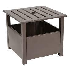patio umbrella base table combo