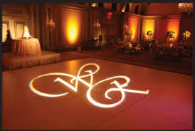 custom gobo bay area uplighting wedding