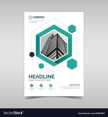 Business Flyer Template Free Download Business Flyer Template With Green Hexagon