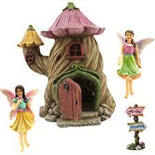 fairy garden items. Beautiful Fairy Fairy Garden House Accessories Kit U2013 Miniature Figurines 7u201d High  Door To Items W