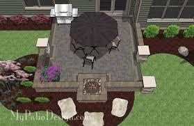 square patio designs. Modren Square DIY Square Brick Patio Design With Fire Pit On Designs