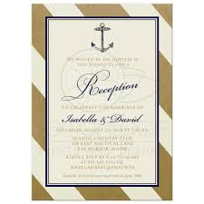 post wedding reception only invitations elegant nautical gold Wedding Reception Only Invitations elegant nautical post wedding reception only invitations wedding reception only invitations wording