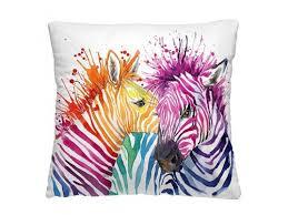 Купить <b>подушку декоративную</b> Волшебная ночь (<b>40x40см</b>) Зебры ...