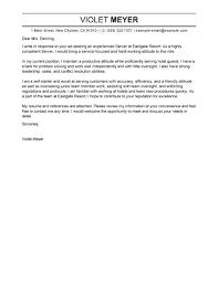 Sample Hospitality Cover Letter Cover Letter Sample For Fresh