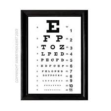 Dot Eye Chart Eye Chart Exam Art Print Wall Decor Optometry Optometrist Doctor Typography Instant Printable Digital Download File Diy 8x10 5x7 4x6