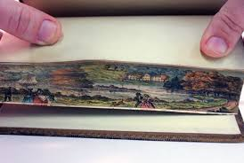 here s something that will have you bending all the clic books in your house fore edge painting the art of hiding ilrations and paintings on the