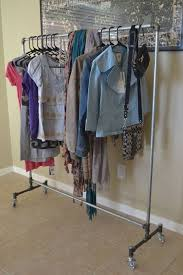 rolling clothing rack galvanized steel with by pipedesigns 240 00