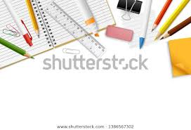 Vector Realistic Decorative Border Stationery Supplies Stock