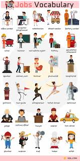Occupation Chart Pictures Jobs Vocabulary Job Names With Pictures English