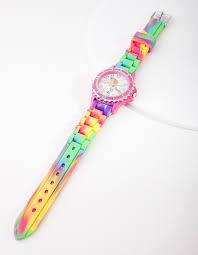 <b>Kids Rainbow</b> Unicorn Silicon <b>Strap</b> Watch – Lovisa