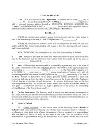 Loan Agreements Between Individuals Unique 48 Loan Agreement Templates Samples Write Perfect Agreements