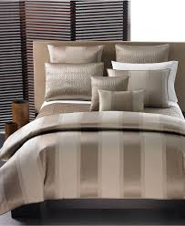 Macy Bedroom Furniture Closeout Closeout Hotel Collection Wide Stripe Bronze Bedding Collection