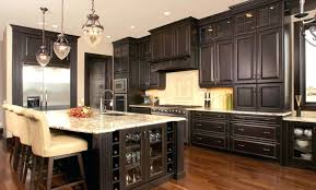 Announcing Dark Cabinets Light Granite Kitchen With Countertops Tile
