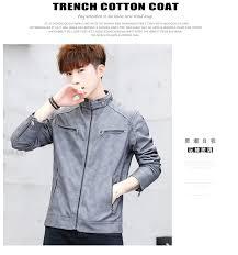 new 2018 men39s imitation denim leather jacket new