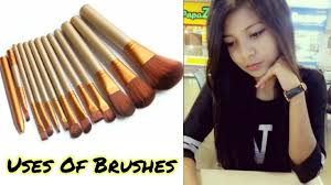 how to use makeup brushes in hindi use of diffe makeup brushes makeup brushes for beginners