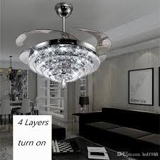 ceiling fans for big save led crystal chandelier fan lights invisible fan crystal lights living room bedroom restaurant modern ceiling fan 42
