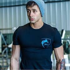 alphalete 2018 summer new mens gyms t shirt crossfit fitness bodybuilding fashion male short cotton clothing brand tee tops