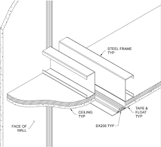 control joint drywall embly drawing