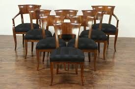 Art deco period furniture Painted Sold Set Of Italian Art Deco 1925 Vintage Walnut Dining Chairs New Upholstery Harp Gallery Harp Gallery Antique Furniture Sold Set Of Italian Art Deco 1925 Vintage Walnut Dining Chairs