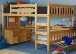 Diy full size loft bed with desk plans pdf plans
