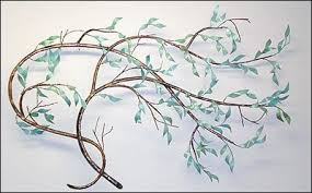windblown willow right shown wall on metal wall art tree blowing wind with willow branch wall sculptures 4 selections maxhoward