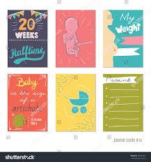 Pregnancy Journal Templates Pregnancy 20 Weeks Vector Design Templates Stock Vector Royalty