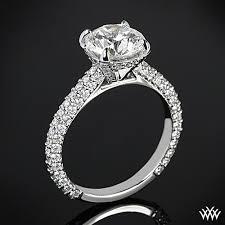 elena rounded pave diamond engagement ring 2389